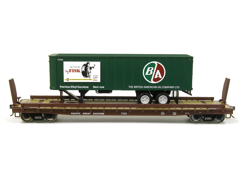 2013 Weaver Pacific Great Eastern flat with British American Oil Trailer